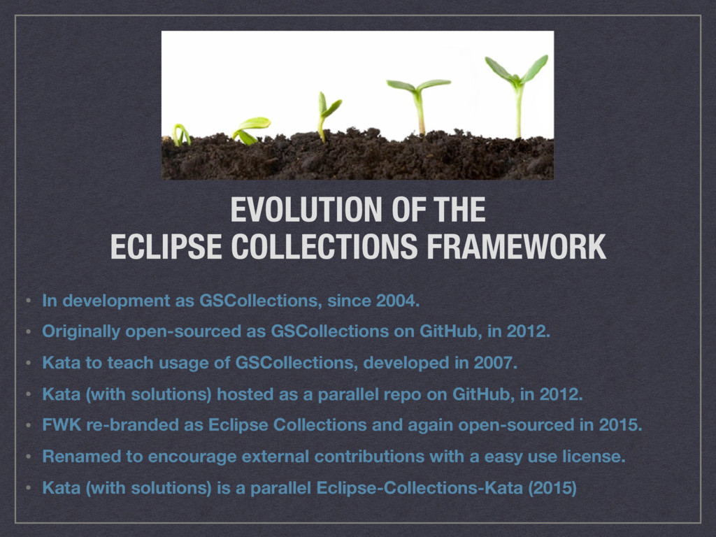 EVOLUTION OF THE