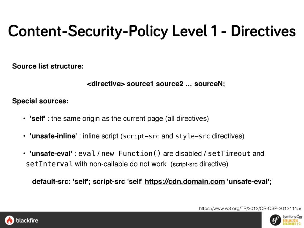 Source list structure: <directive> source1 sour...