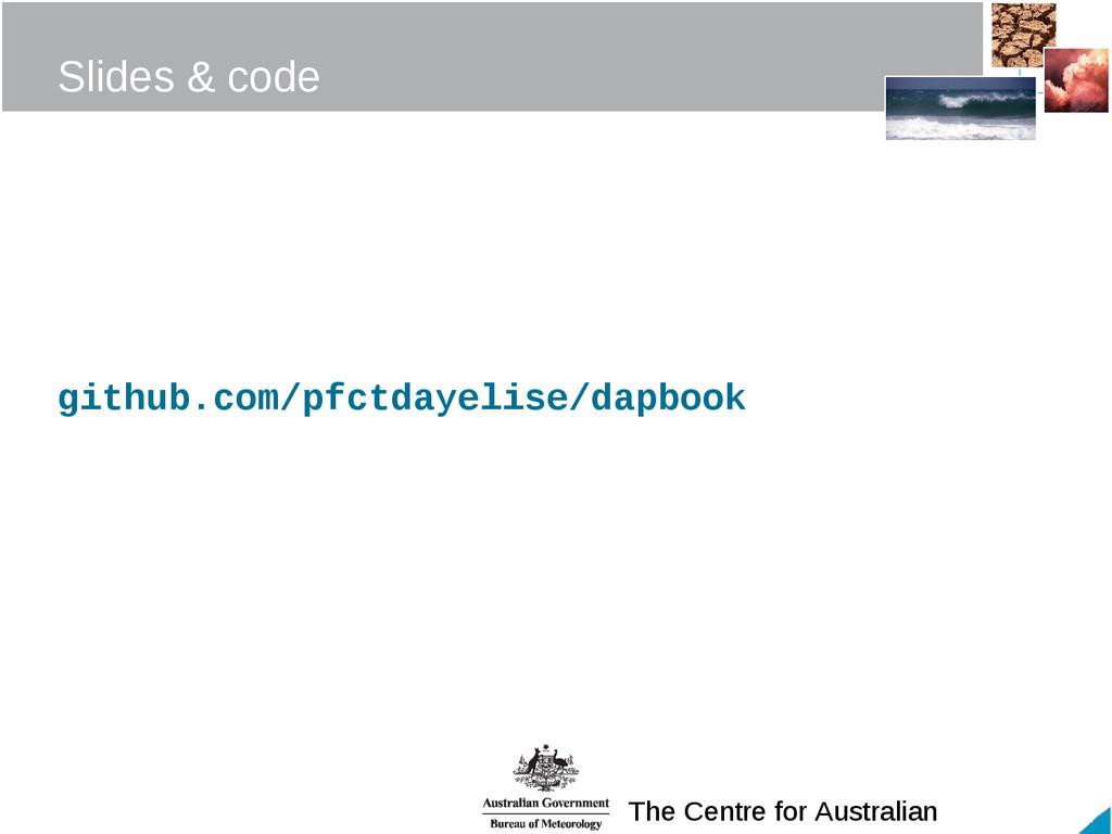 The Centre for Australian Slides & code github....