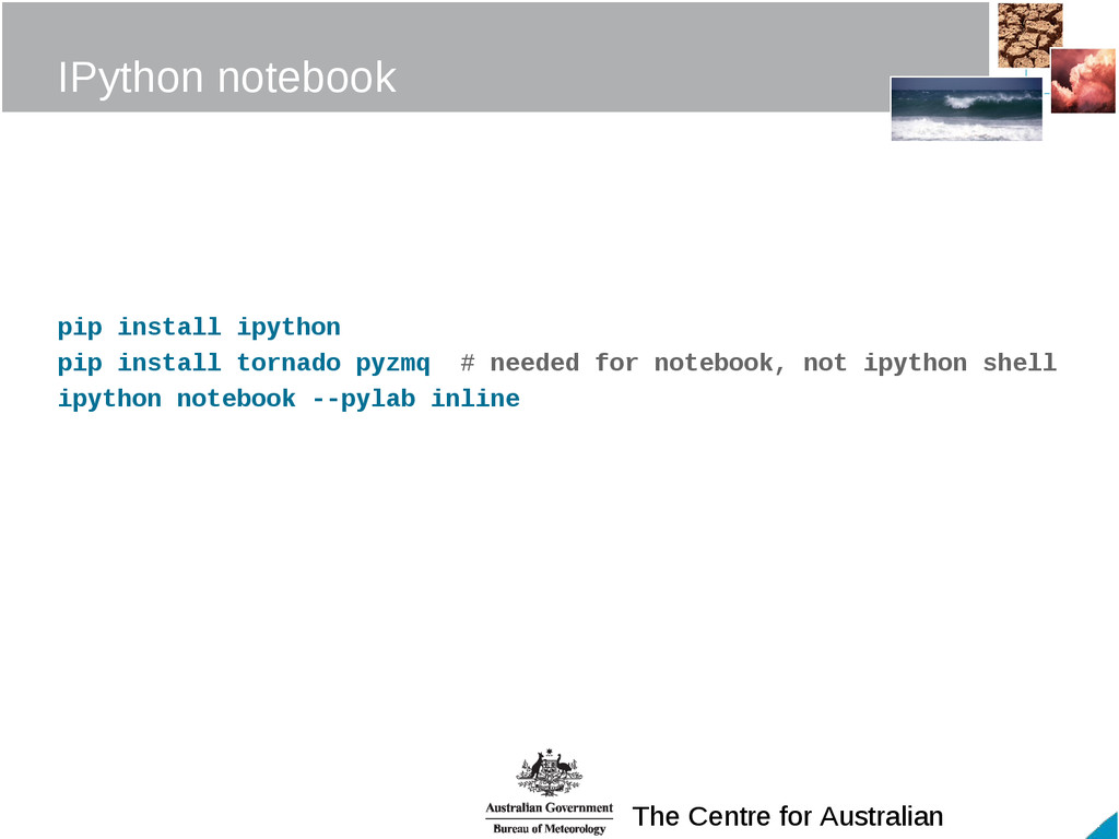 The Centre for Australian IPython notebook pip ...