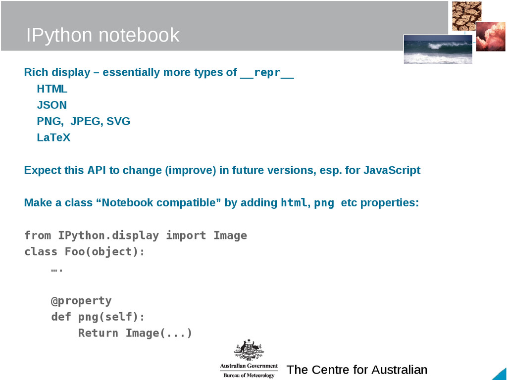 The Centre for Australian IPython notebook Rich...