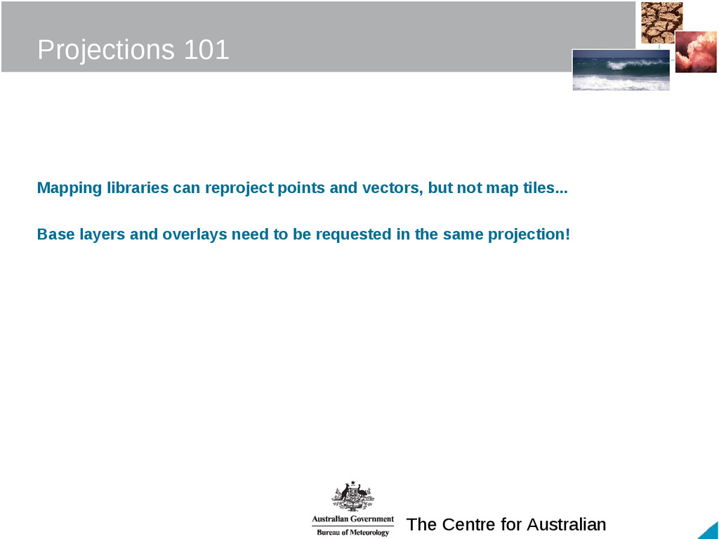 The Centre for Australian Projections 101 Mappi...