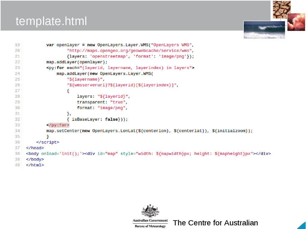 The Centre for Australian template.html