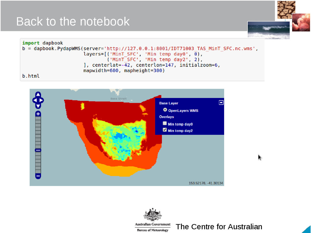 The Centre for Australian Back to the notebook