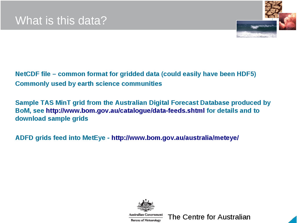 The Centre for Australian What is this data? Ne...