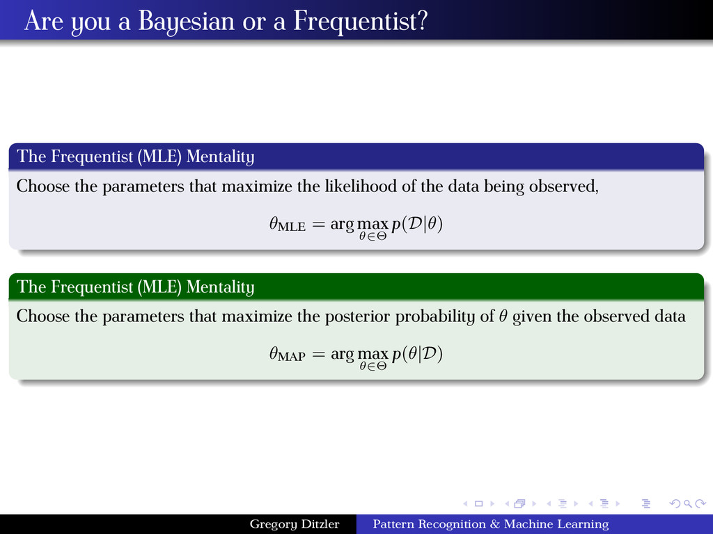 Are you a Bayesian or a Frequentist? The Freque...