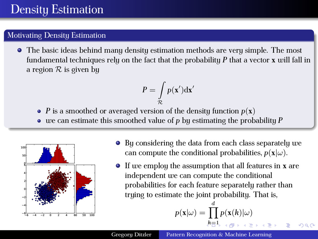Density Estimation Motivating Density Estimatio...