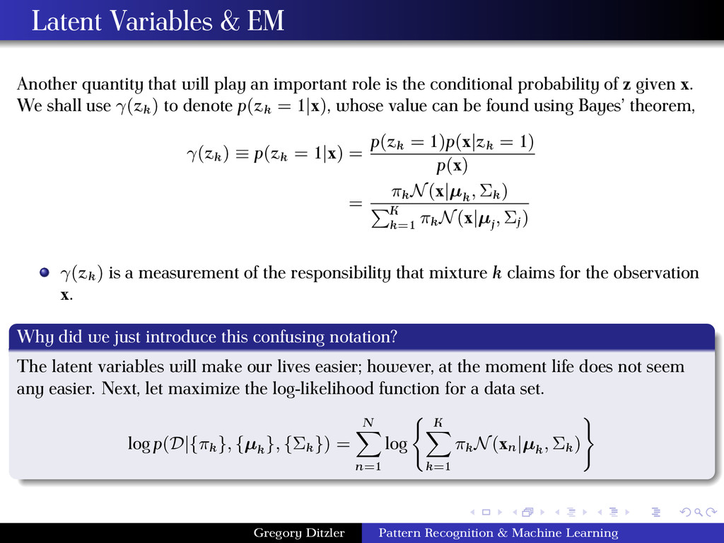Latent Variables & EM Another quantity that wil...
