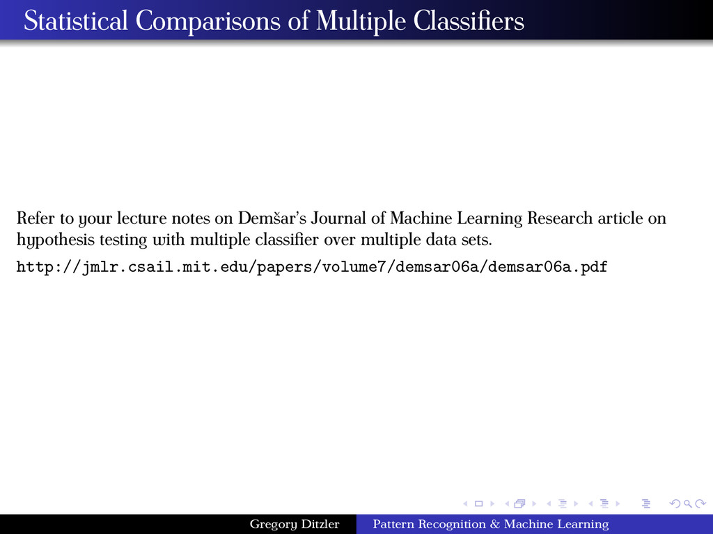 Statistical Comparisons of Multiple Classifiers ...