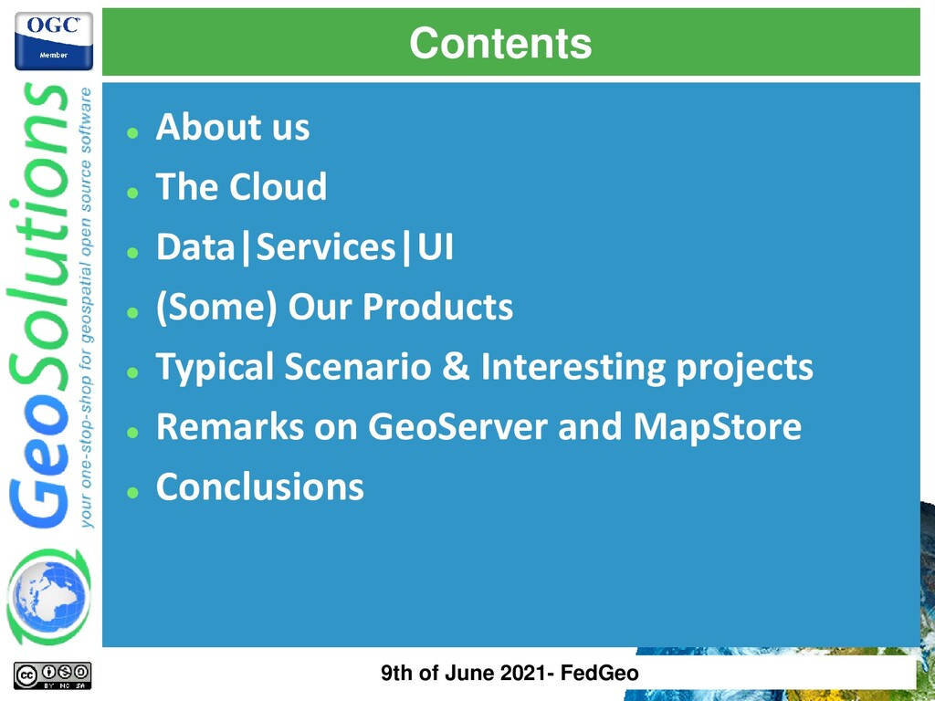 Contents ⚫ About us ⚫ The Cloud ⚫ Data|Services...