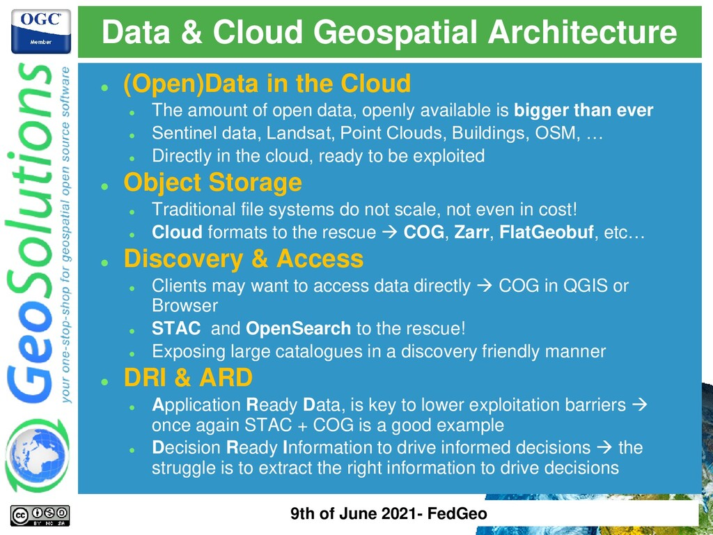 ⚫ (Open)Data in the Cloud ⚫ The amount of open ...