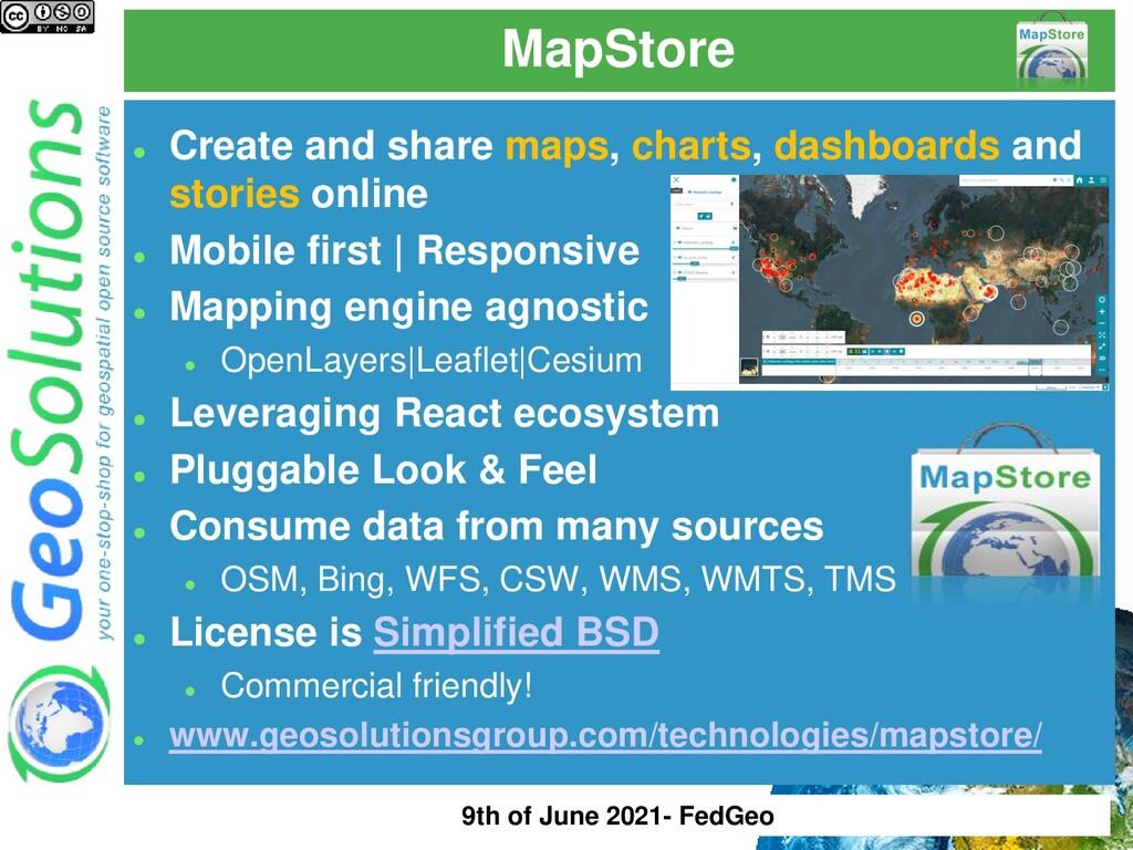 MapStore ⚫ Create and share maps, charts, dashb...