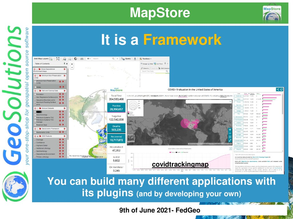 MapStore It is a Framework You can build many d...