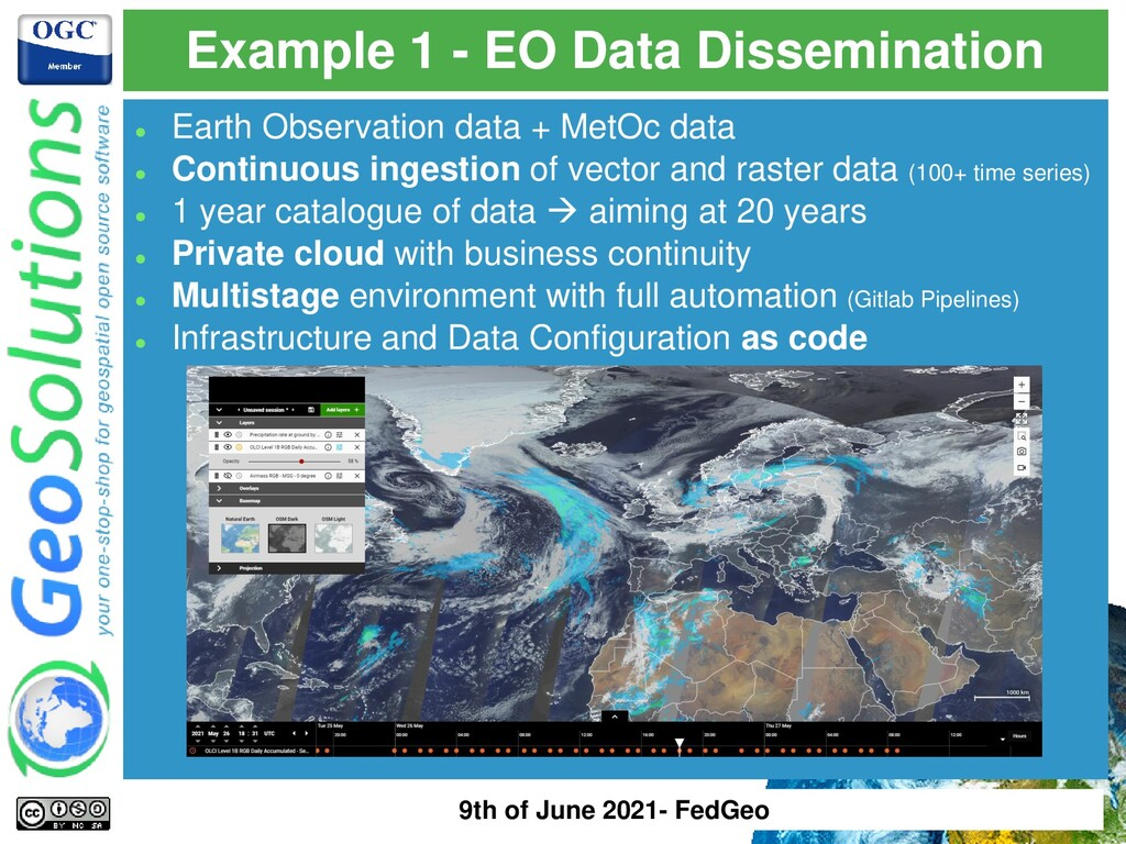 Example 1 - EO Data Dissemination ⚫ Earth Obser...