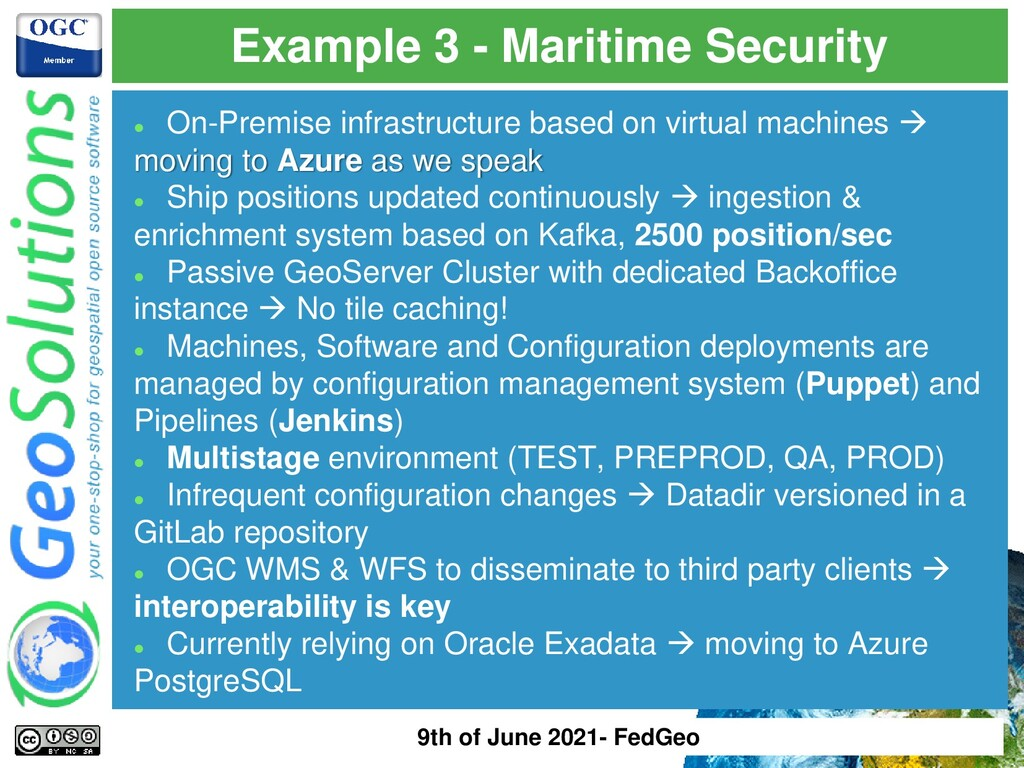 Example 3 - Maritime Security ⚫ On-Premise infr...