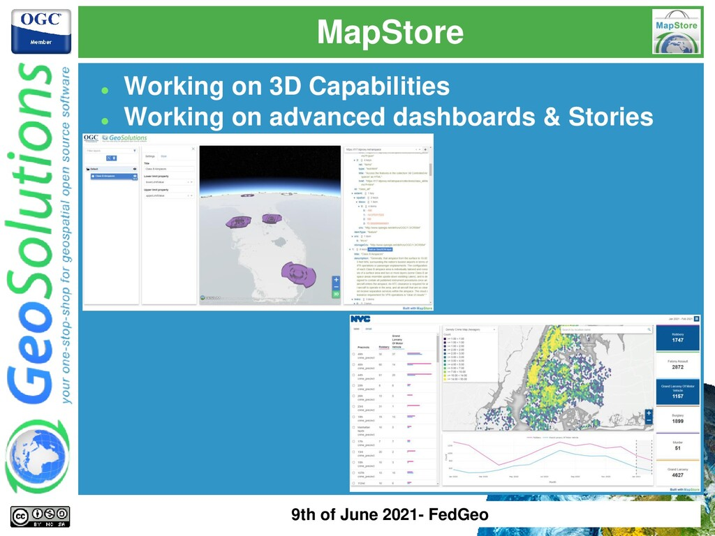 MapStore ⚫ Working on 3D Capabilities ⚫ Working...