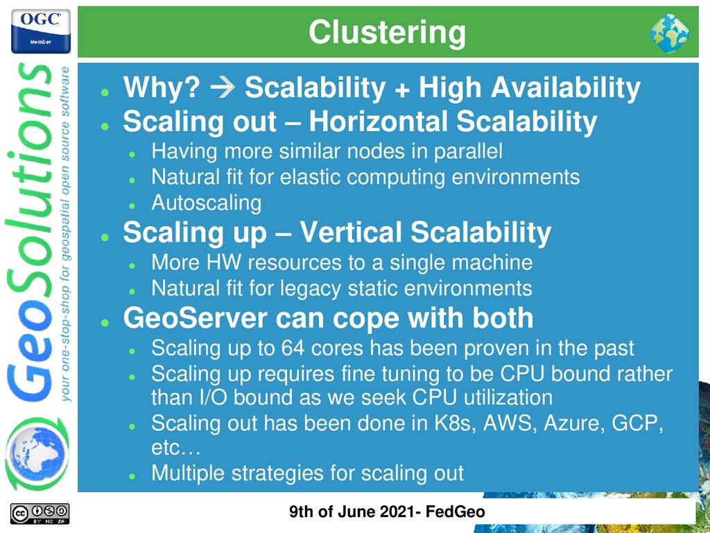 Clustering ⚫ Why? → Scalability + High Availabi...