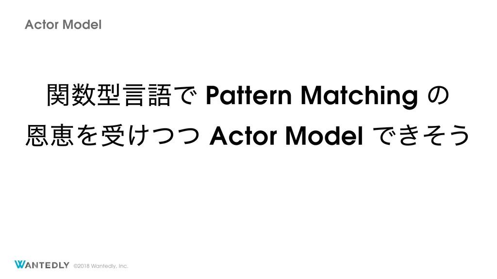 ©2018 Wantedly, Inc. Actor Model ؔܕݴޠͰ Pattern...