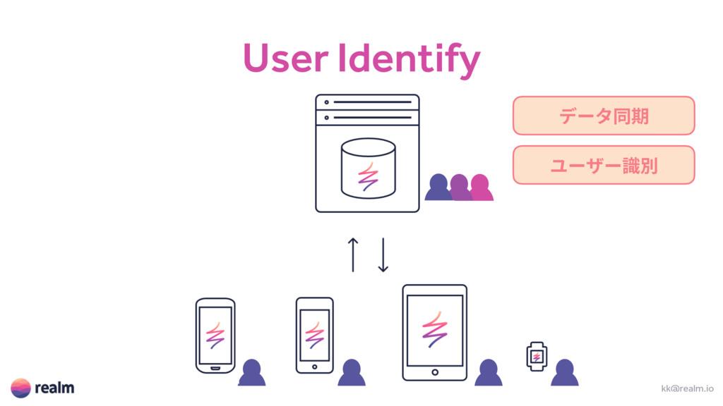 User Identify kk@realm.io ر٦ةず劍 ِ٦ؠ٦陎ⴽ