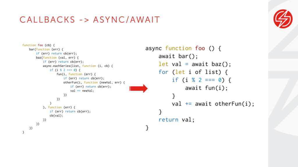 CALLBACKS -> ASYNC/AWAIT