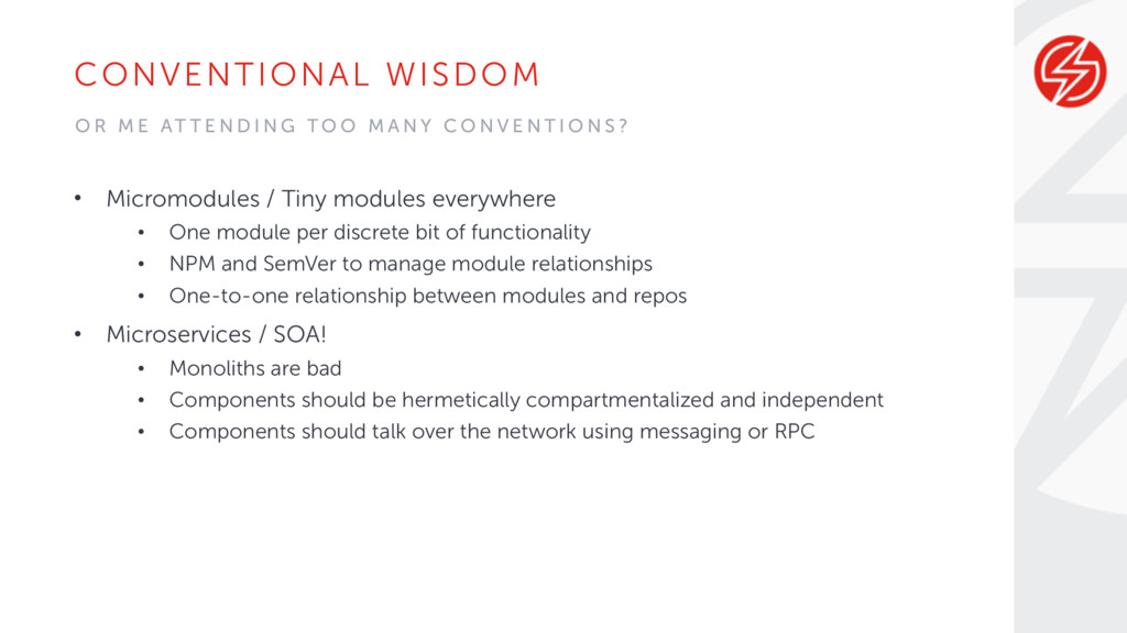 CONVENTIONAL WISDOM • Micromodules / Tiny modul...