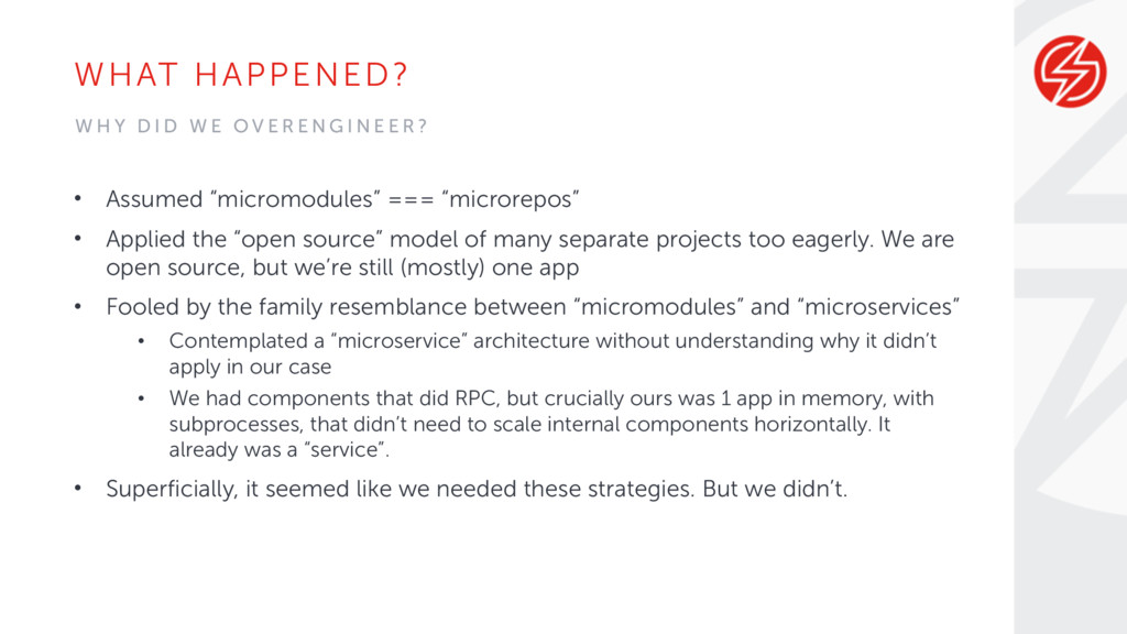 "WHAT HAPPENED? • Assumed ""micromodules"" === ""mi..."
