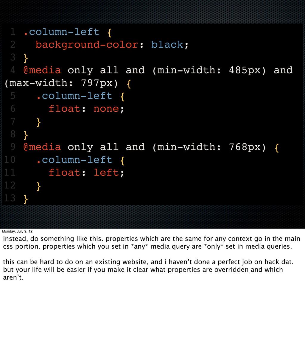 1 .column-left { 2 background-color: black; 3 }...