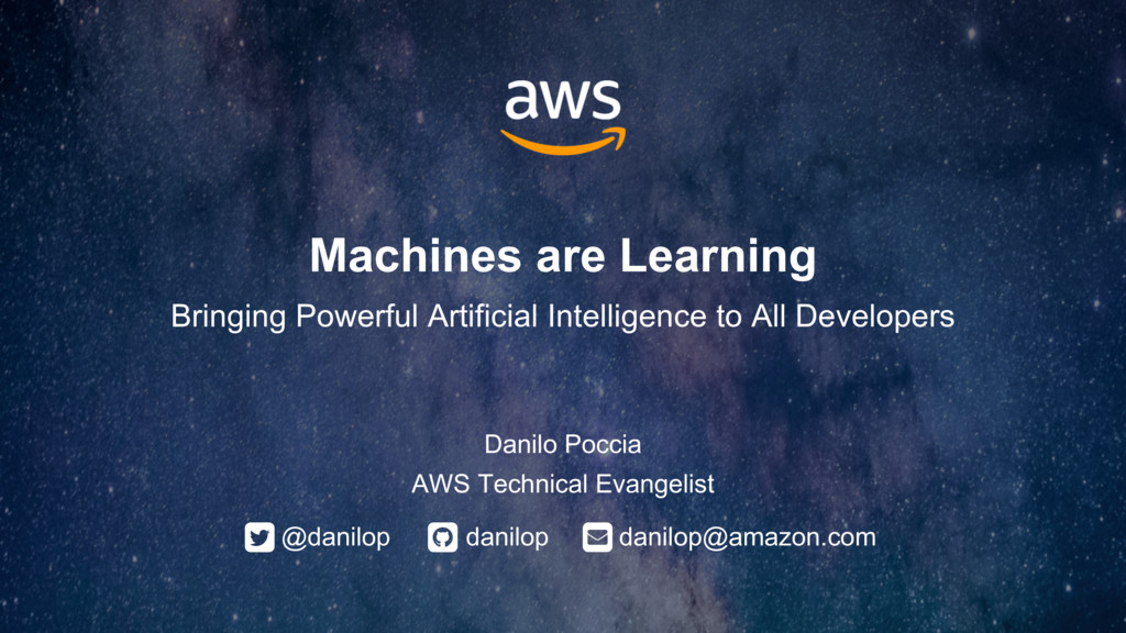 Machines are Learning: Bringing Powerful Artificial Intelligence Tools to Developers