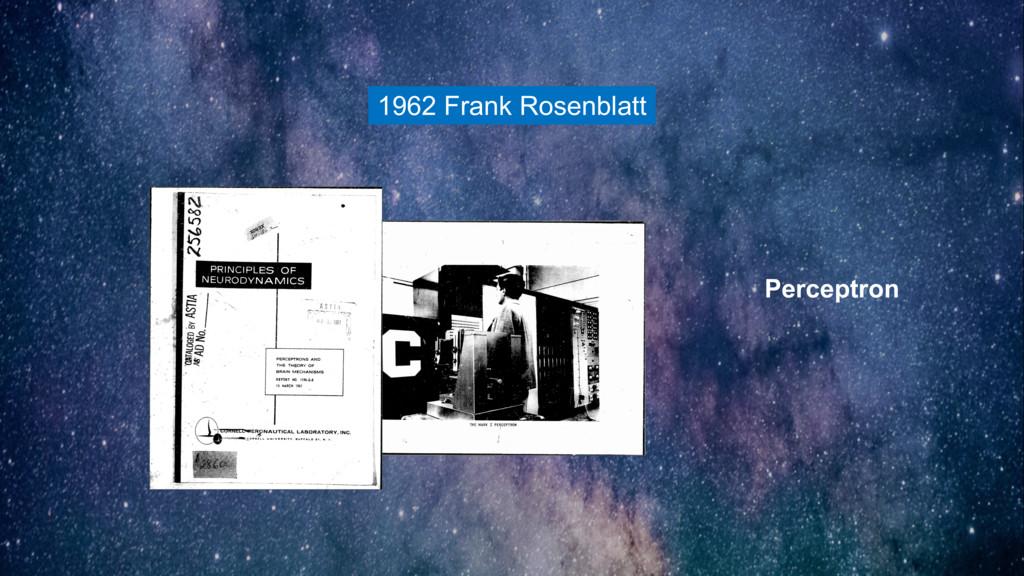 1962 Frank Rosenblatt Perceptron