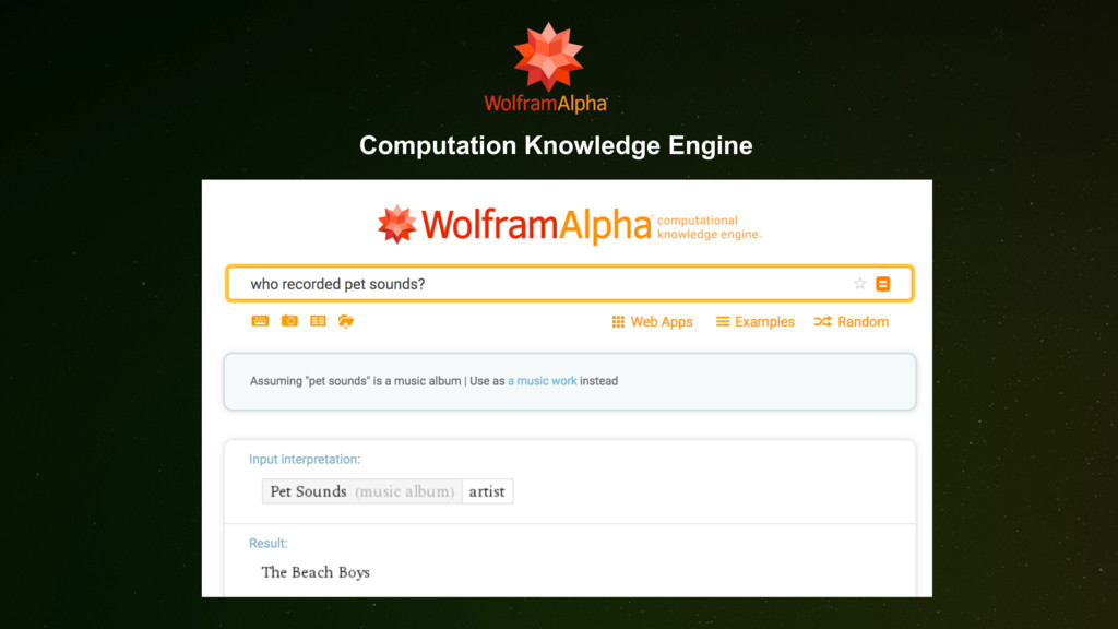 Computation Knowledge Engine