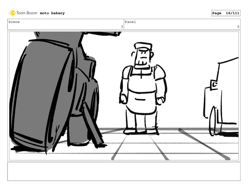 Scene 3 Panel 5 moto bakery Page 16/111