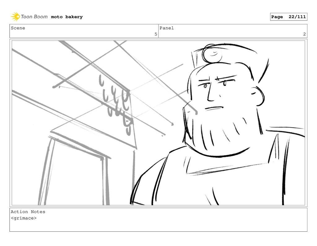 Scene 5 Panel 2 Action Notes <grimace> moto bak...