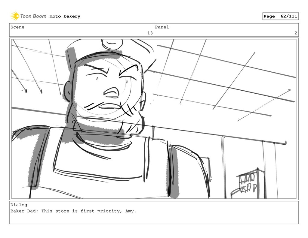 Scene 13 Panel 2 Dialog Baker Dad: This store i...