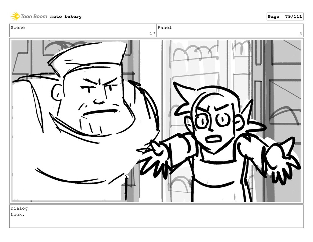 Scene 17 Panel 4 Dialog Look. moto bakery Page ...