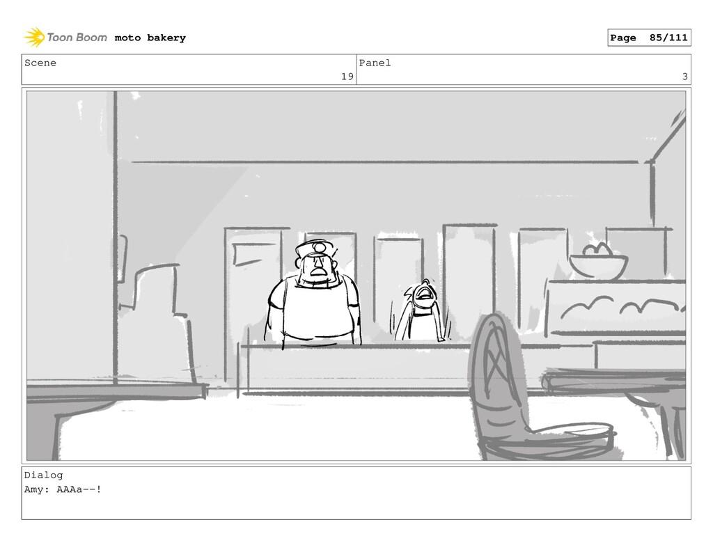 Scene 19 Panel 3 Dialog Amy: AAAa--! moto baker...