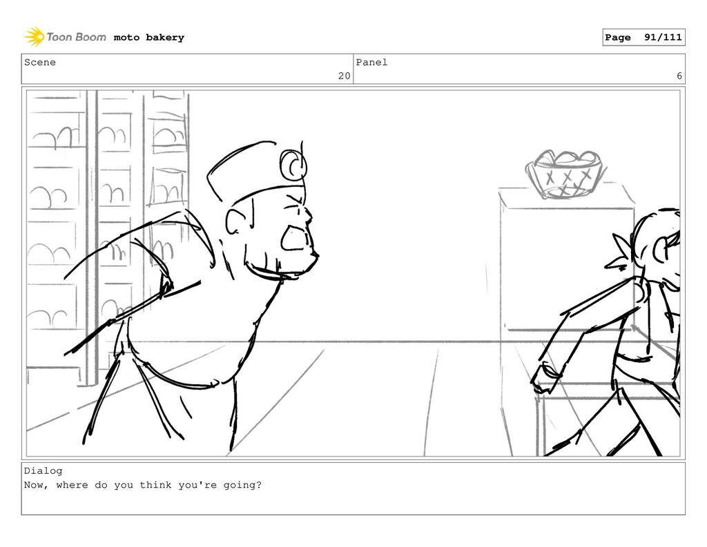 Scene 20 Panel 6 Dialog Now, where do you think...