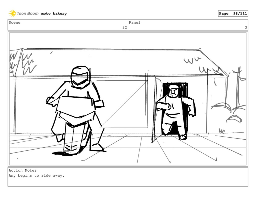 Scene 22 Panel 3 Action Notes Amy begins to rid...