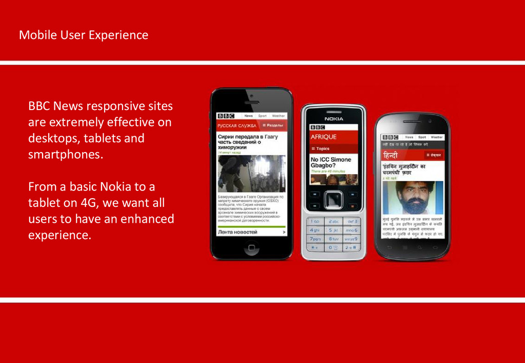 Mobile User Experience BBC News responsive site...