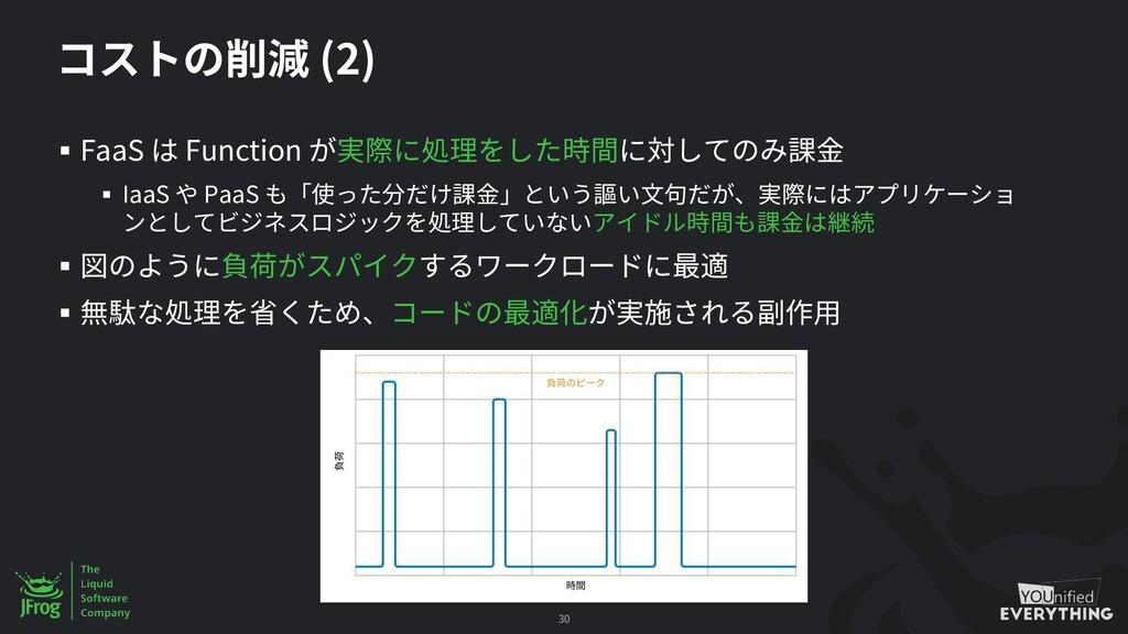 (2) § FaaS Function § IaaS PaaS § § 30