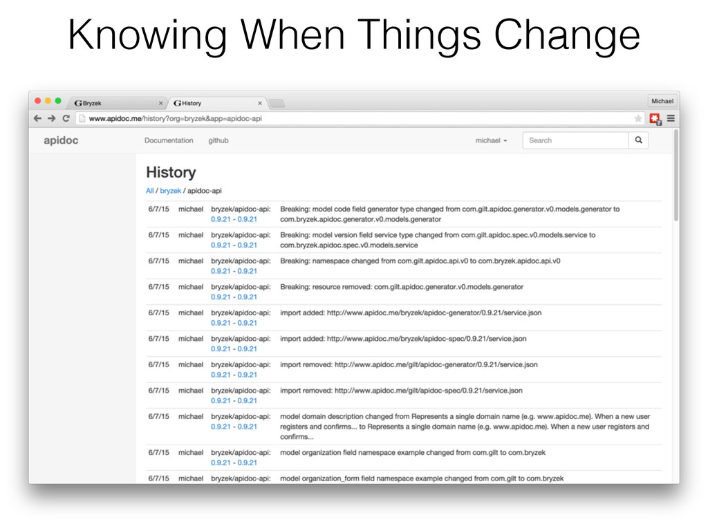 Knowing When Things Change