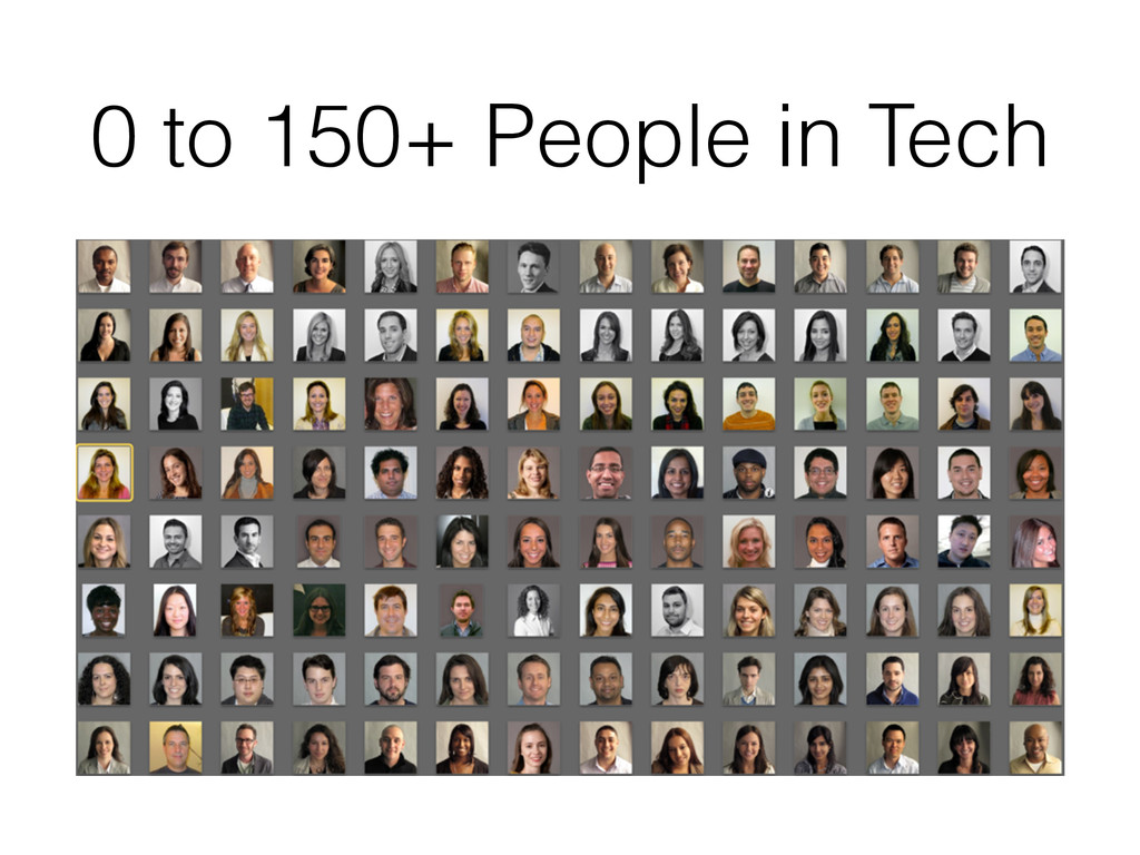 0 to 150+ People in Tech