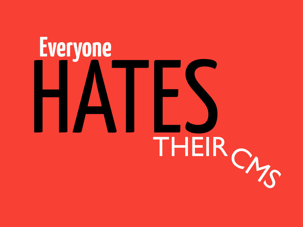 Everyone THEIR HATES CMS