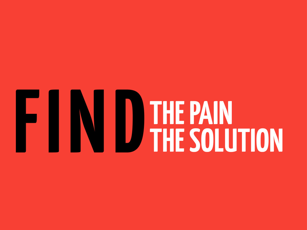 THE PAIN THE SOLUTION FIND