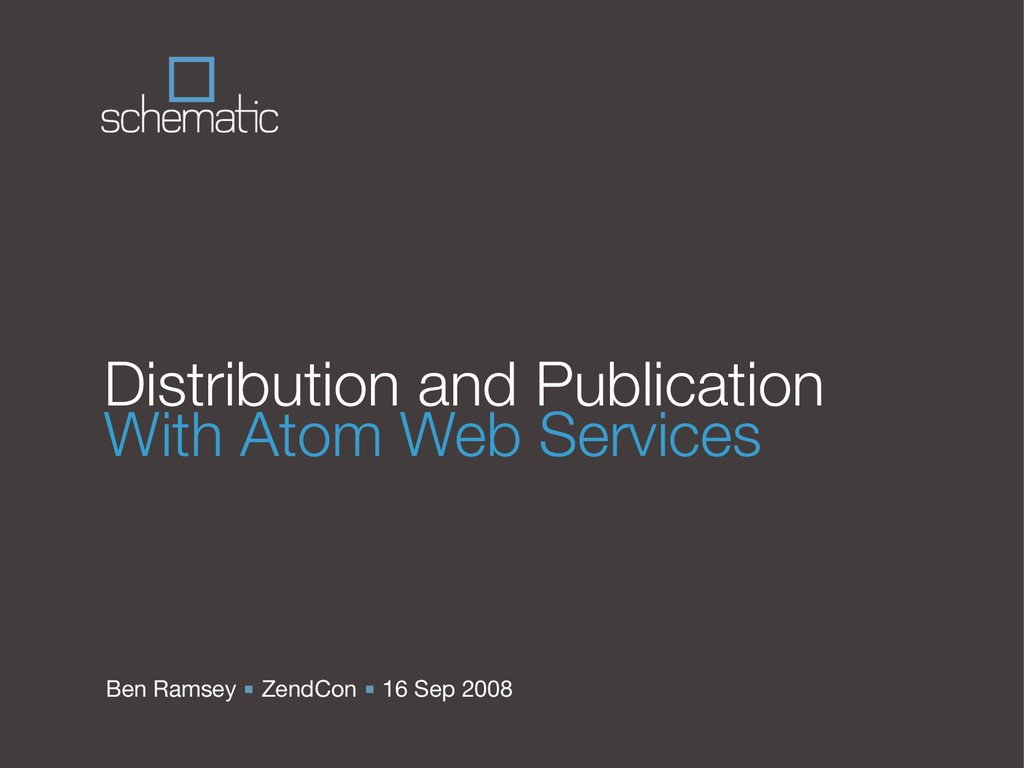 Ben Ramsey ■ ZendCon ■ 16 Sep 2008 Distribution...