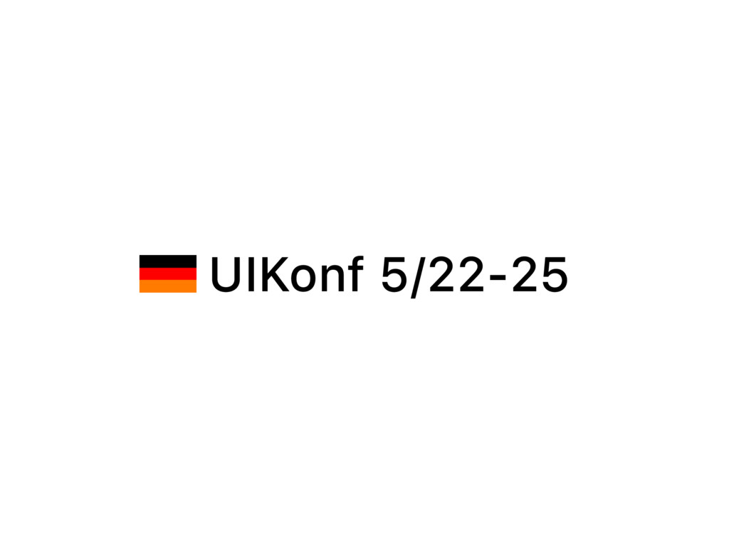 UIKonf 5/22-25