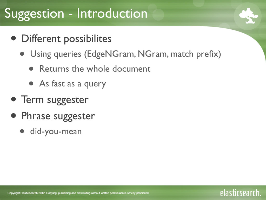 Suggestion - Introduction • Different possibili...