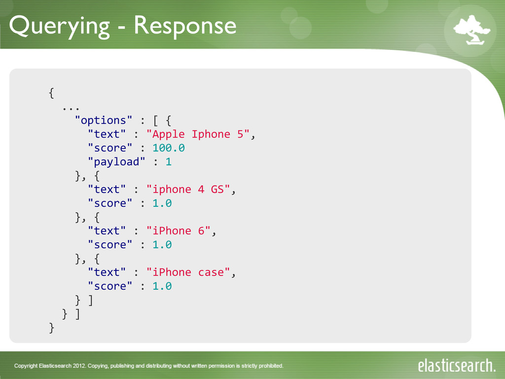 Querying - Response { 	