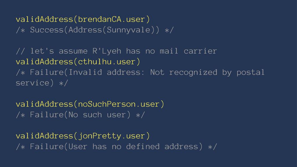 validAddress(brendanCA.user) /* Success(Address...