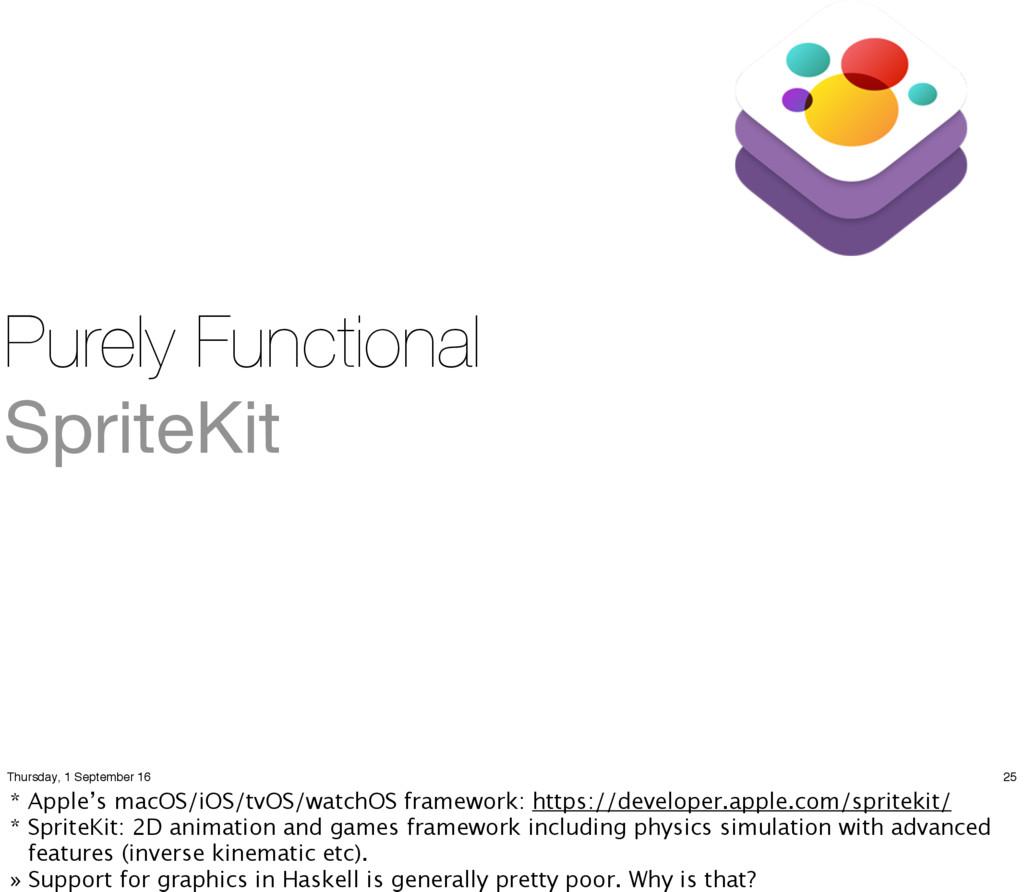 Purely Functional SpriteKit 25 Thursday, 1 Sept...