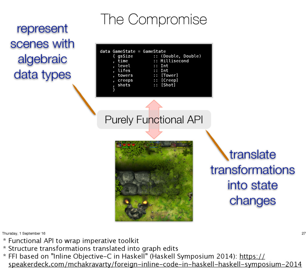 The Compromise data GameState = GameState { gsS...